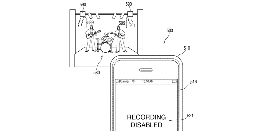 patent podczerwień apple