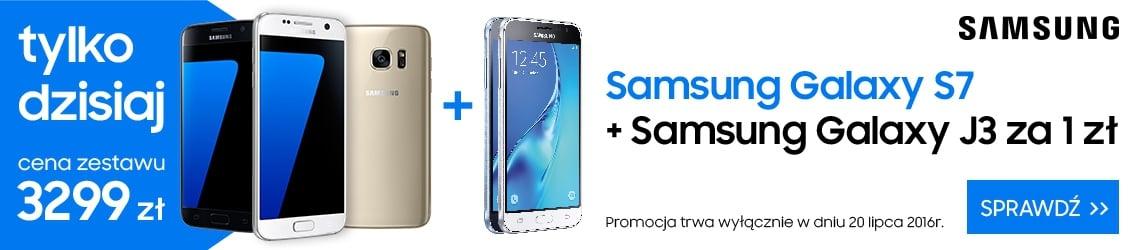 Tabletowo.pl Tylko dziś: Galaxy S7 i Galaxy J3 2016 w zestawie za 3299 złotych Android Promocje Samsung Smartfony