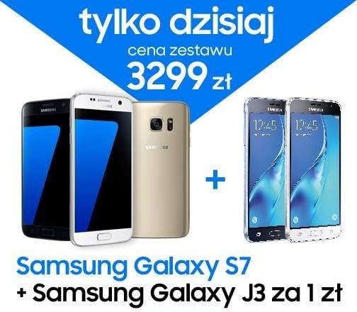 Galaxy S7 i Galaxy J3 2016 w zestawie za 3299 złotych