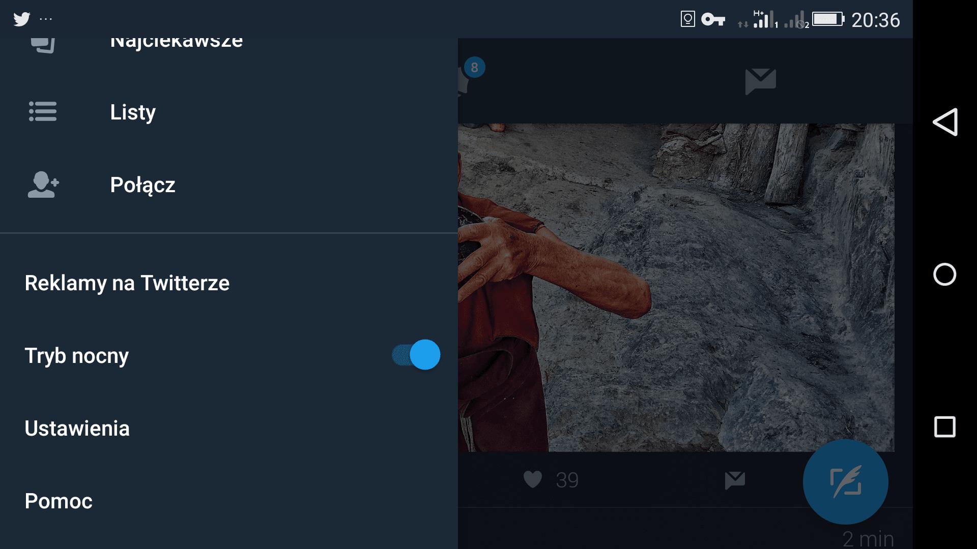 Tabletowo.pl KRÓTKO: Twitter ma już tryb nocny - biorę go w ciemno Aktualizacje Aplikacje Social Media