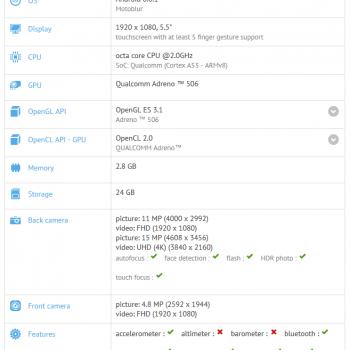 Motorola Lenovo Moto Z Play GFXBench