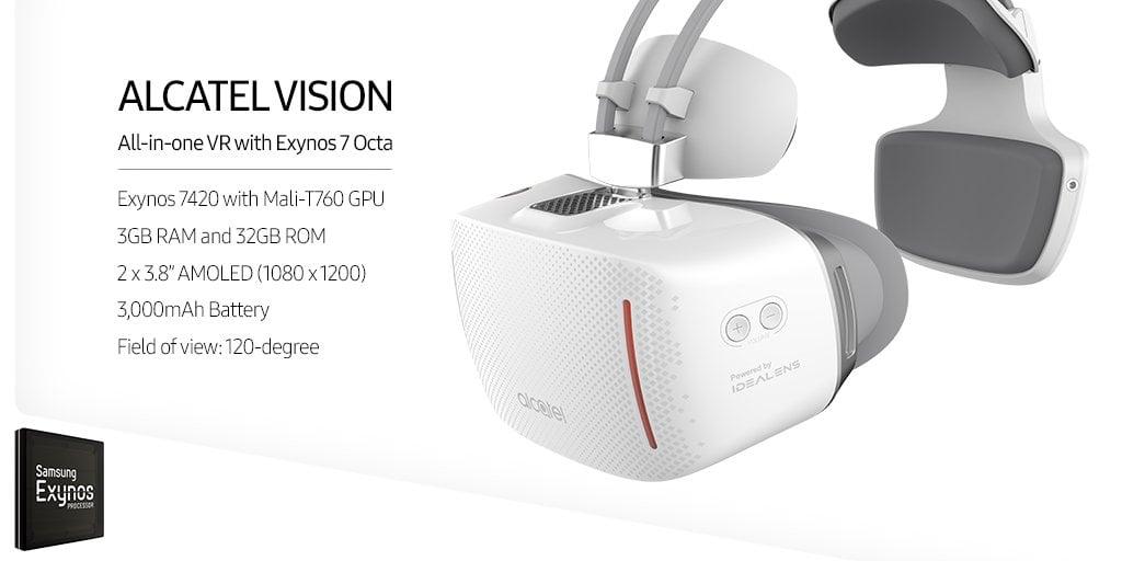 Alcatel w swoich autonomicznych goglach VR wykorzystał flagowy procesor Samsunga - Exynosa 7420 22