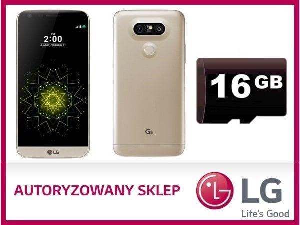 LG G5 karta microSD 16GB promocja