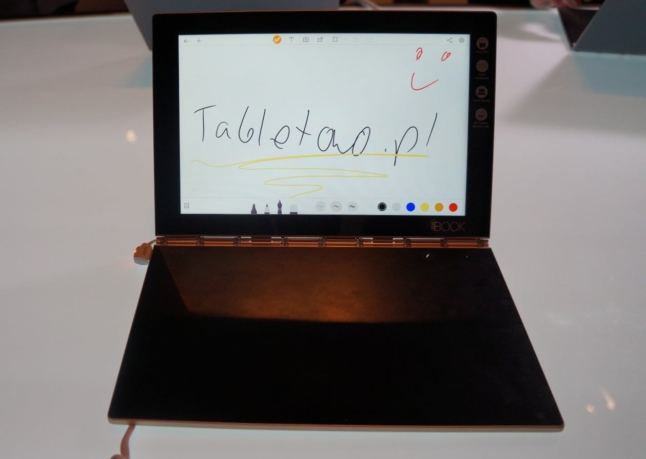 Tabletowo.pl Lenovo Yoga Book trafi do Polski w październiku. Do wyboru wersja z Androidem lub Windows (obie z LTE) Android Hybrydy Lenovo Tablety Windows