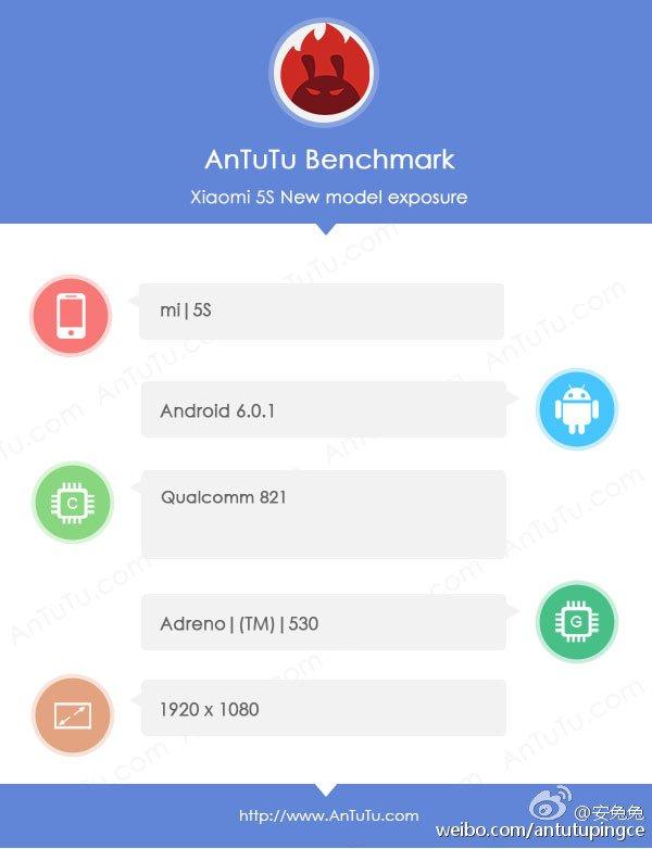 Tabletowo.pl Xiaomi Mi 5S przetestowany w AnTuTu. Na pokładzie m.in. Snapdragon 821 Android Plotki / Przecieki Smartfony Xiaomi