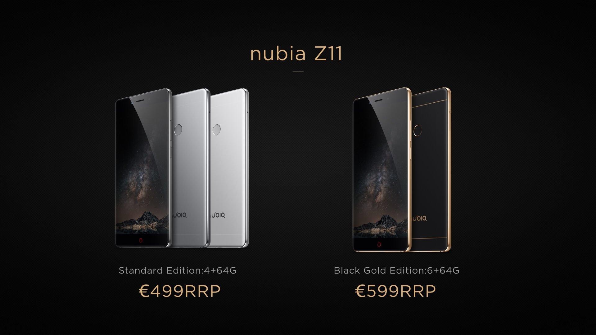 Nubia Z11 - ceny w Europie