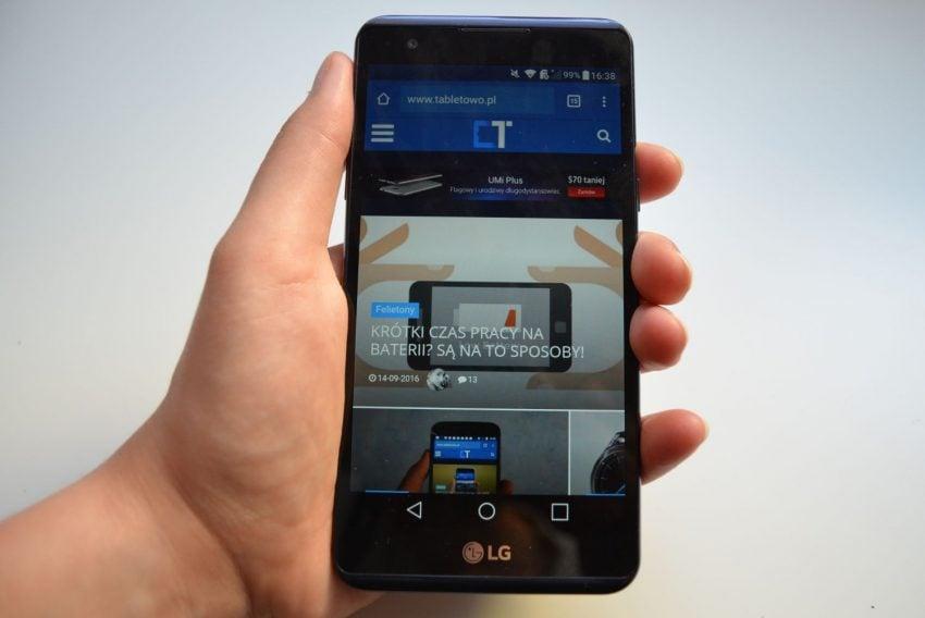 Tabletowo.pl Recenzja LG X Power. Bateria i funkcja powerbanku to główne atuty Android LG Recenzje Smartfony