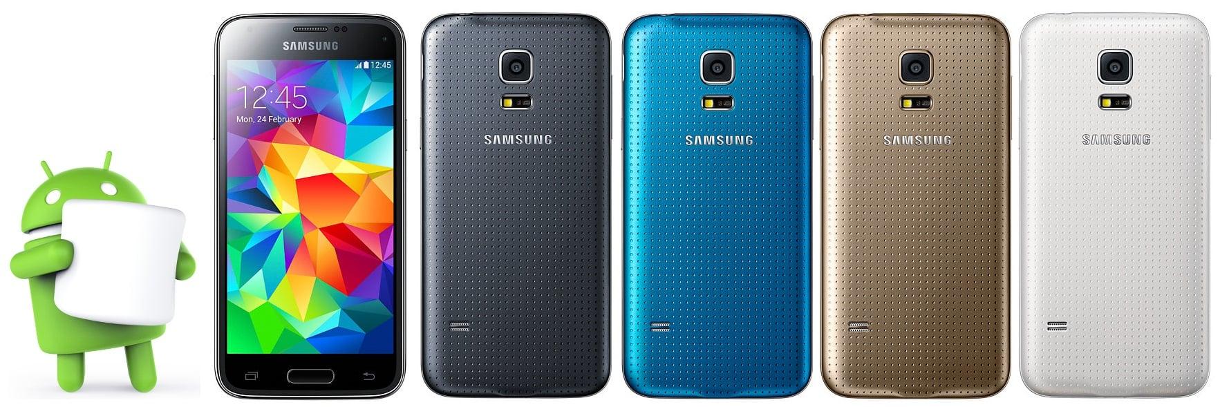 Samsung Galaxy S5 Mini Android 6.0.1 Marshmallow