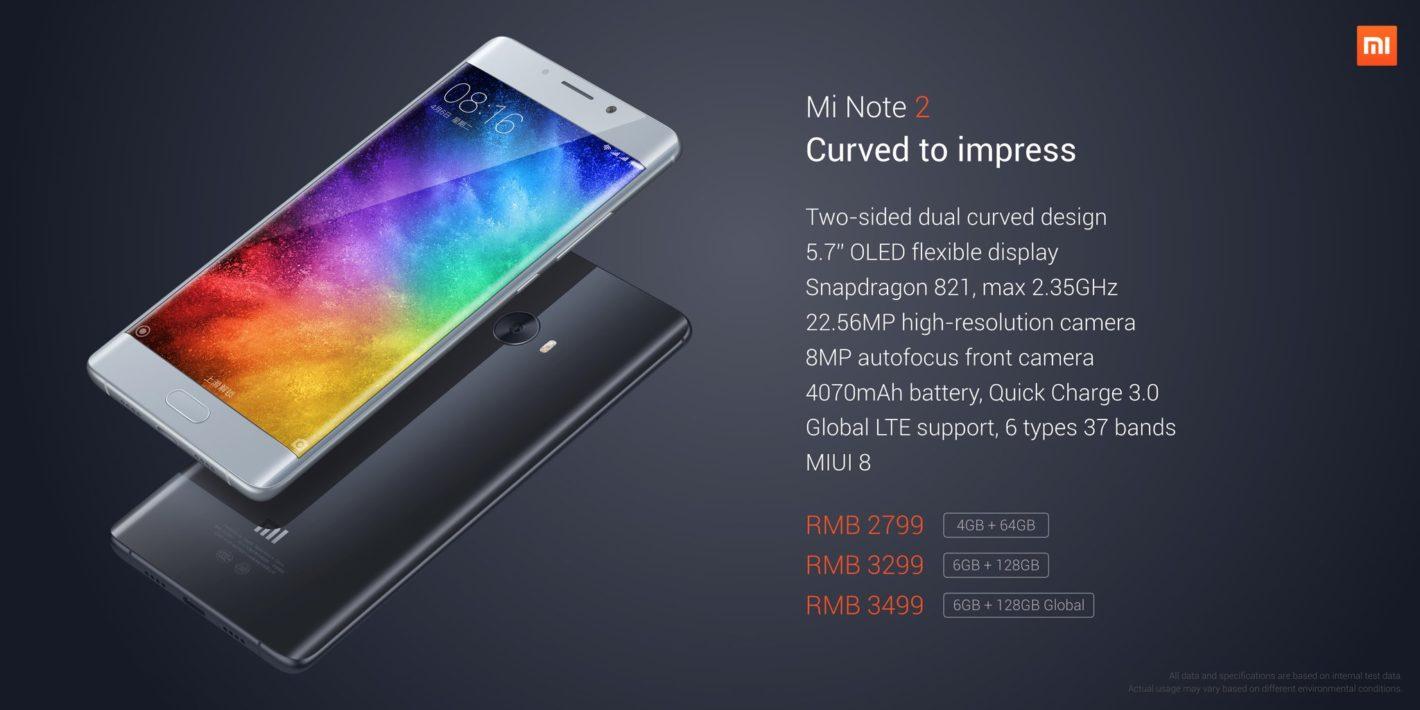 Xiaomi Mi Note 2 specyfikacja