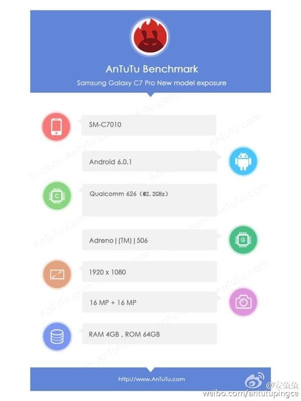 Samsung Galaxy C7 Pro w AnTuTu