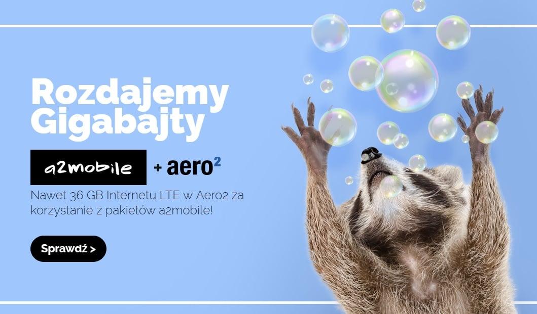 Klienci Aero2 i jednocześnie sieci a2mobile otrzymają w prezencie co miesiąc 3GB internetu 20