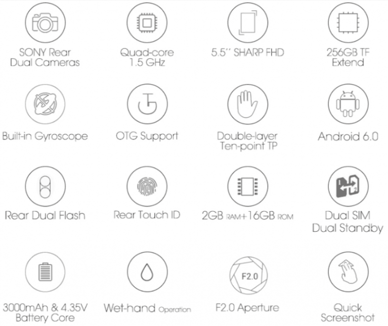 Tabletowo.pl Bluboo pokazuje swój pierwszy smartfon z podwójnym aparatem - Bluboo Dual Nowości Smartfony