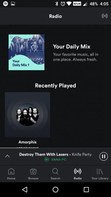 Nowy Spotify będzie na Androidzie wyglądał tak - z dolnym paskiem nawigacyjnym 19