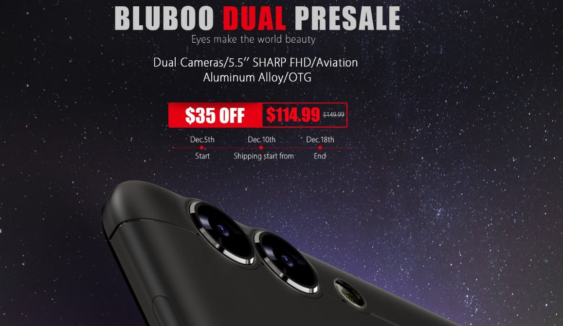 Rozpoczęła się przedsprzedaż Bluboo Dual - chińskiego smartfona z podwójnym aparatem 30