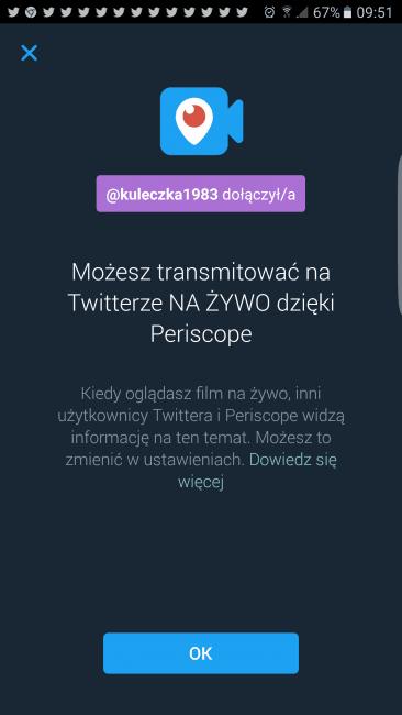 Twitter na żywo dzięki Periscope