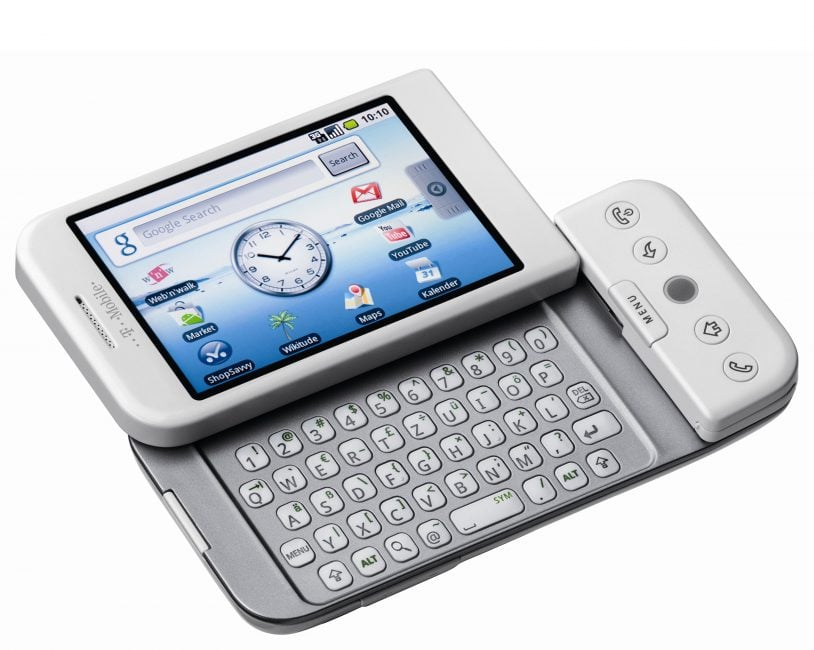 T-Mobile G1 - Pierwszy komercyjne urządzenie z Androidem. W Polsce było znane pod nazwą Era G1