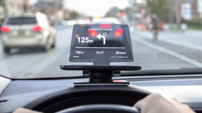 Jeśli nawigacja GPS w samochodzie zasłania ci drogę, to przezroczysty Hudify jest dla ciebie 18
