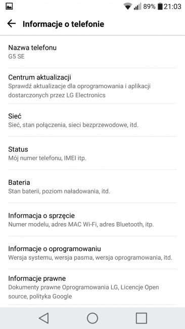 Recenzja LG G5 SE 55