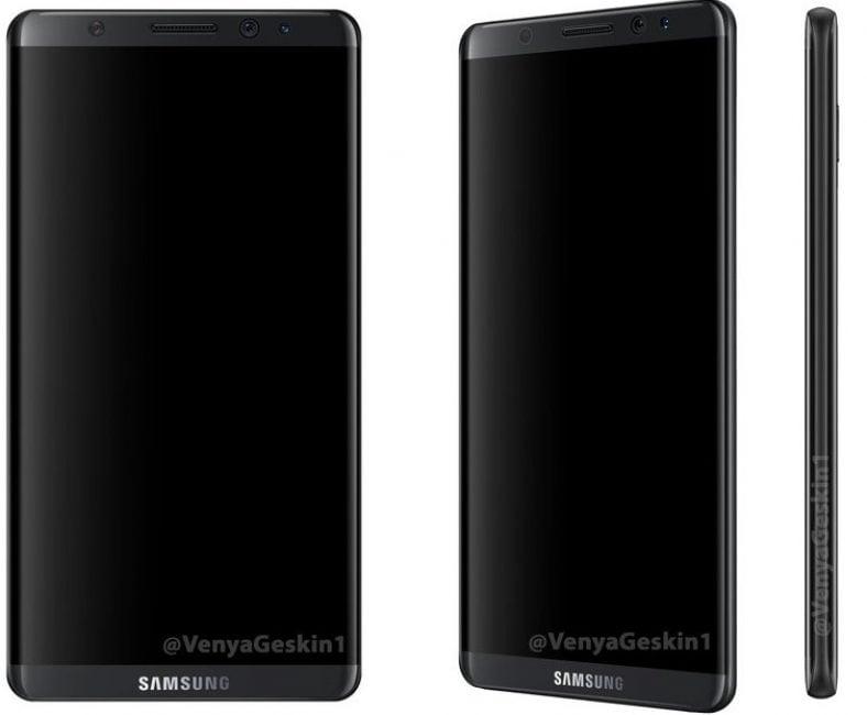 """Tabletowo.pl Będzie też """"płaska"""" wersja Galaxy S8. Baterie do wszystkich dostarczy SDI. Mamy także rendery smartfona Android Plotki / Przecieki Samsung Smartfony"""