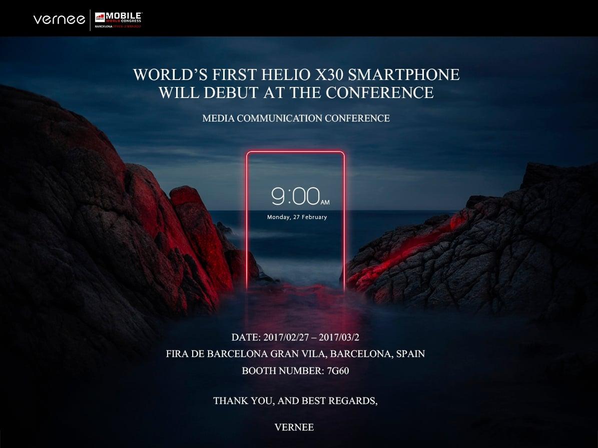 Vernee jako pierwsze zaprezentuje smartfon z Helio X30. I zrobi to 27 lutego 21