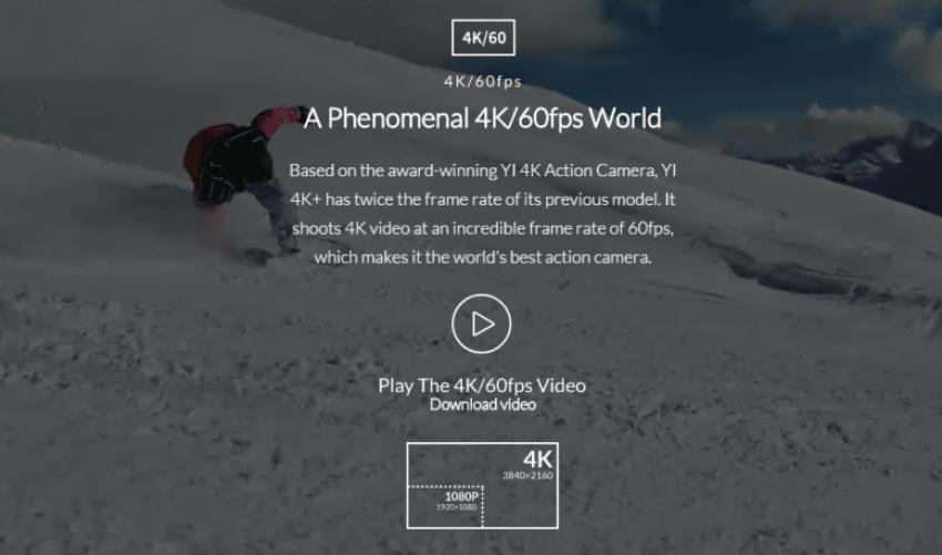 Yi 4K+ z nagrywaniem w 4K 60fps, RAW i obsługą głosową 22