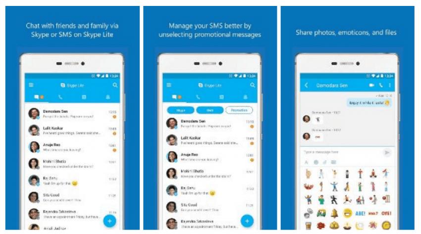 Tabletowo.pl Lekkie aplikacje, przybywajcie! Skype Lite już jest, ale na razie tylko dla Indii Aplikacje Smartfony