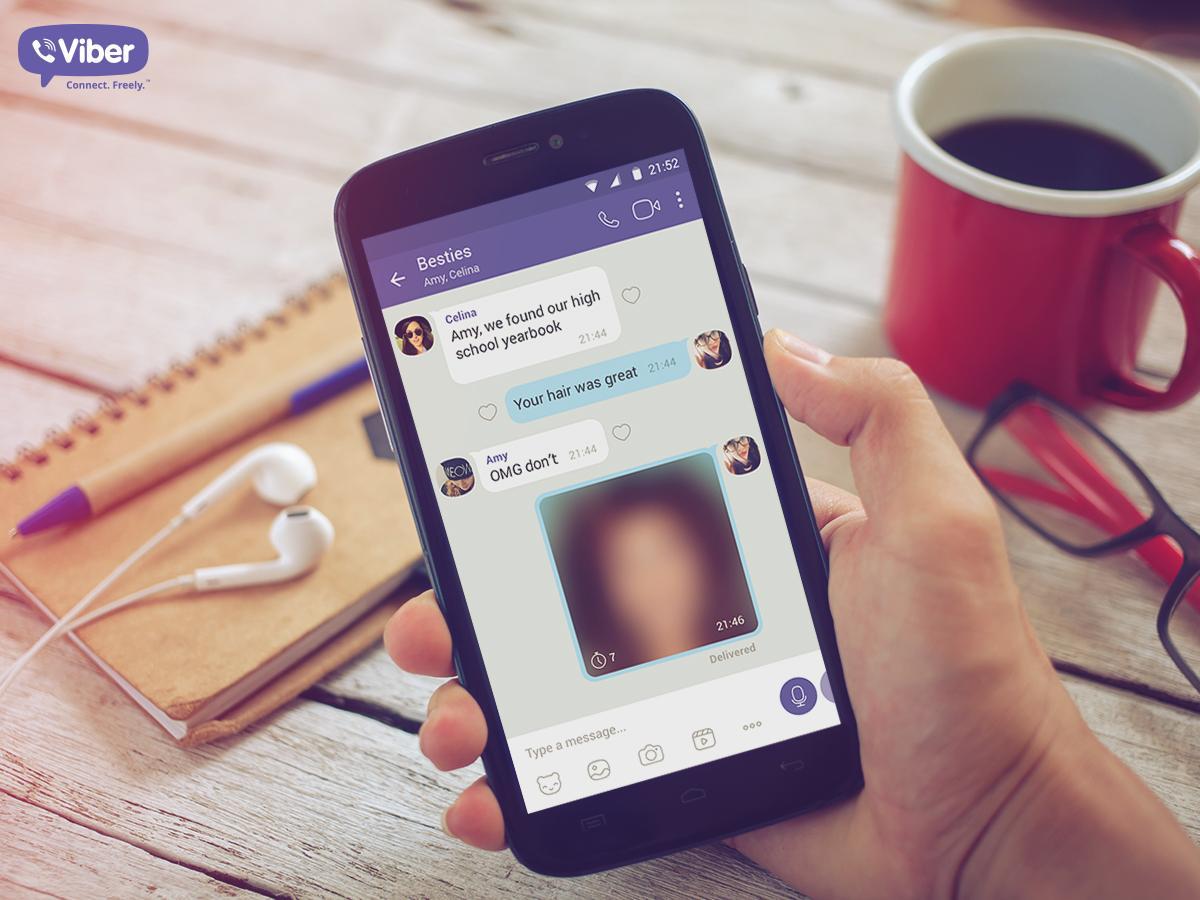 """Tabletowo.pl Viber wprowadza """"tajne wiadomości"""", czyli funkcję, na której wybił się Snapchat Aktualizacje Android Aplikacje iOS Social Media"""