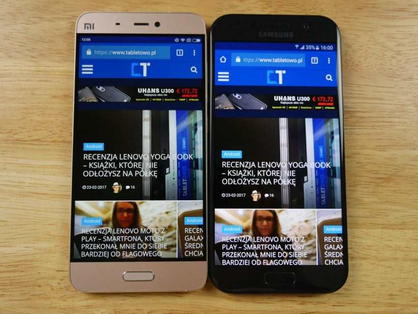 Tabletowo.pl Porównanie: Samsung Galaxy A5 2017 vs Xiaomi Mi 5 Porównania Samsung Smartfony Xiaomi