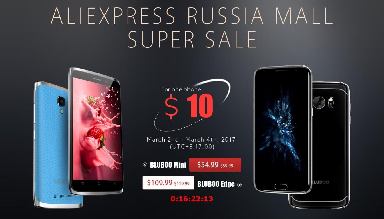 Przy odrobinie szczęścia, od 2 do 4 marca będzie można kupić smartfon Bluboo za jedyne 10 dolarów 25