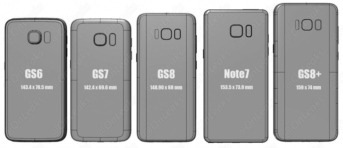 Tym razem wiarygodne porównanie: Galaxy S6, Galaxy S7, Galaxy S8, Galaxy Note 7 i Galaxy S8+ 21