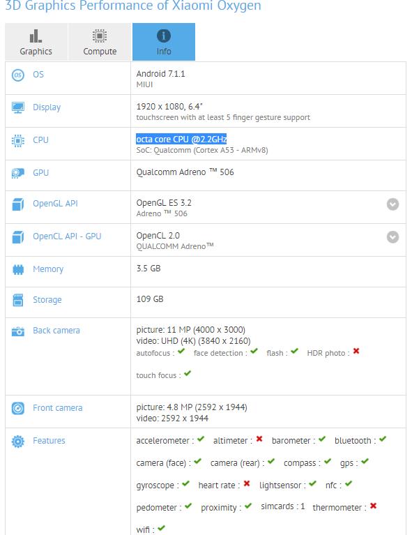 Xiaomi Mi Max 2 w GFXBench. Specyfikacja jest zaskakująca 18