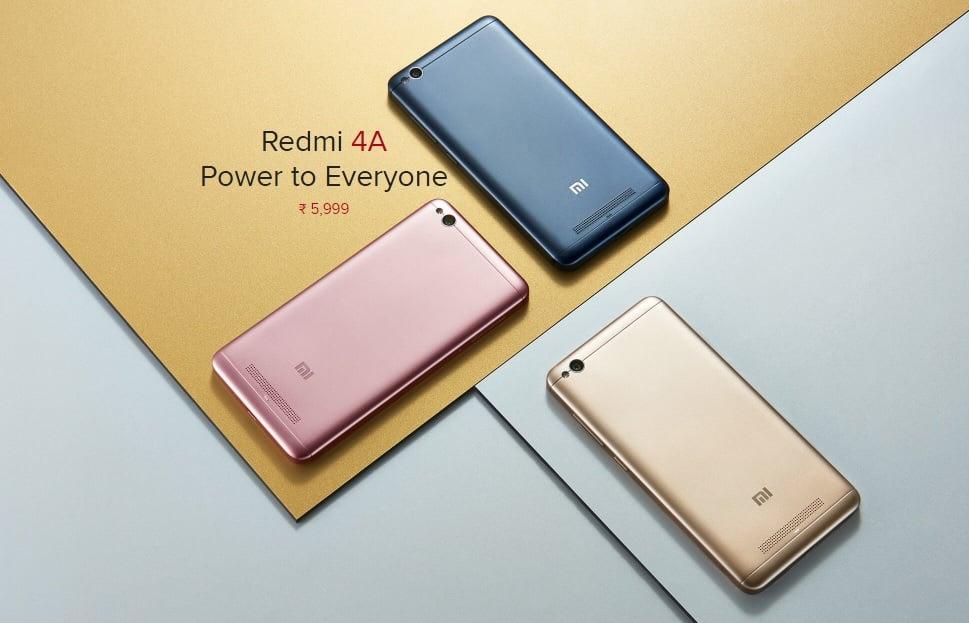 Xiaomi Redmi 4A w ciemnoszarej wersji kolorystycznej zadebiutował oficjalnie 17