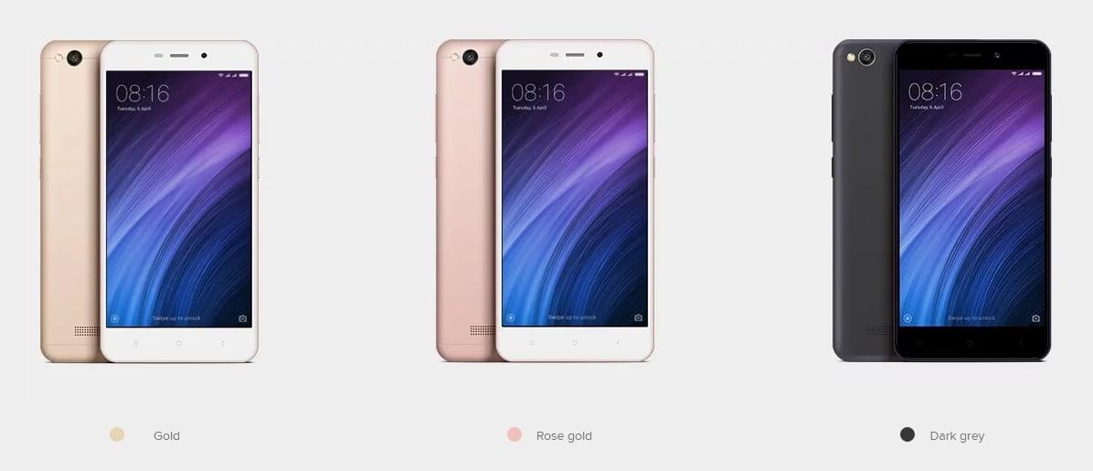 Xiaomi Redmi 4A w ciemnoszarej wersji kolorystycznej zadebiutował oficjalnie 21