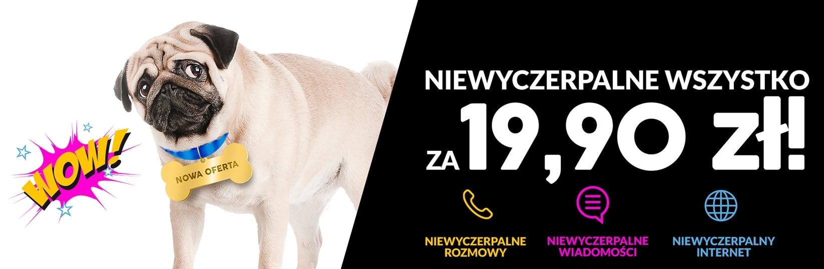 Nowa oferta a2mobile: całkowity no limit za jedyne 19,90 złotych 19