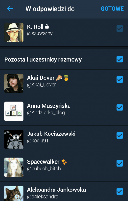 Tabletowo.pl Spore zmiany na Twitterze - nazwy użytkowników w odpowiedziach nie powodują zmniejszania się limitu znaków Aktualizacje Android Aplikacje iOS Social Media