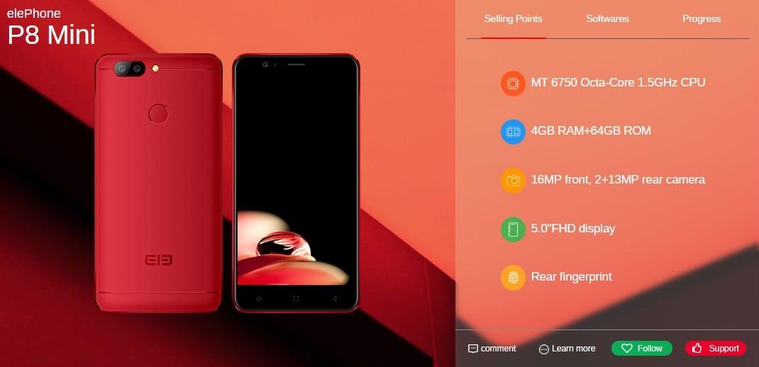 Elephone do czerwca wyda pięć nowych smartfonów, w tym modele P8, P8 Lite i S8 24