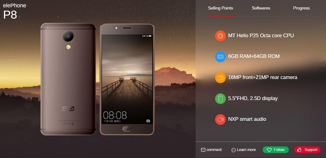 Tabletowo.pl Elephone do czerwca wyda pięć nowych smartfonów, w tym modele P8, P8 Lite i S8 Android Chińskie Smartfony