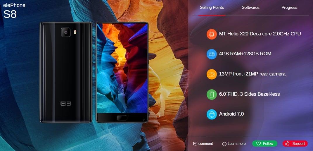 Elephone do czerwca wyda pięć nowych smartfonów, w tym modele P8, P8 Lite i S8 25