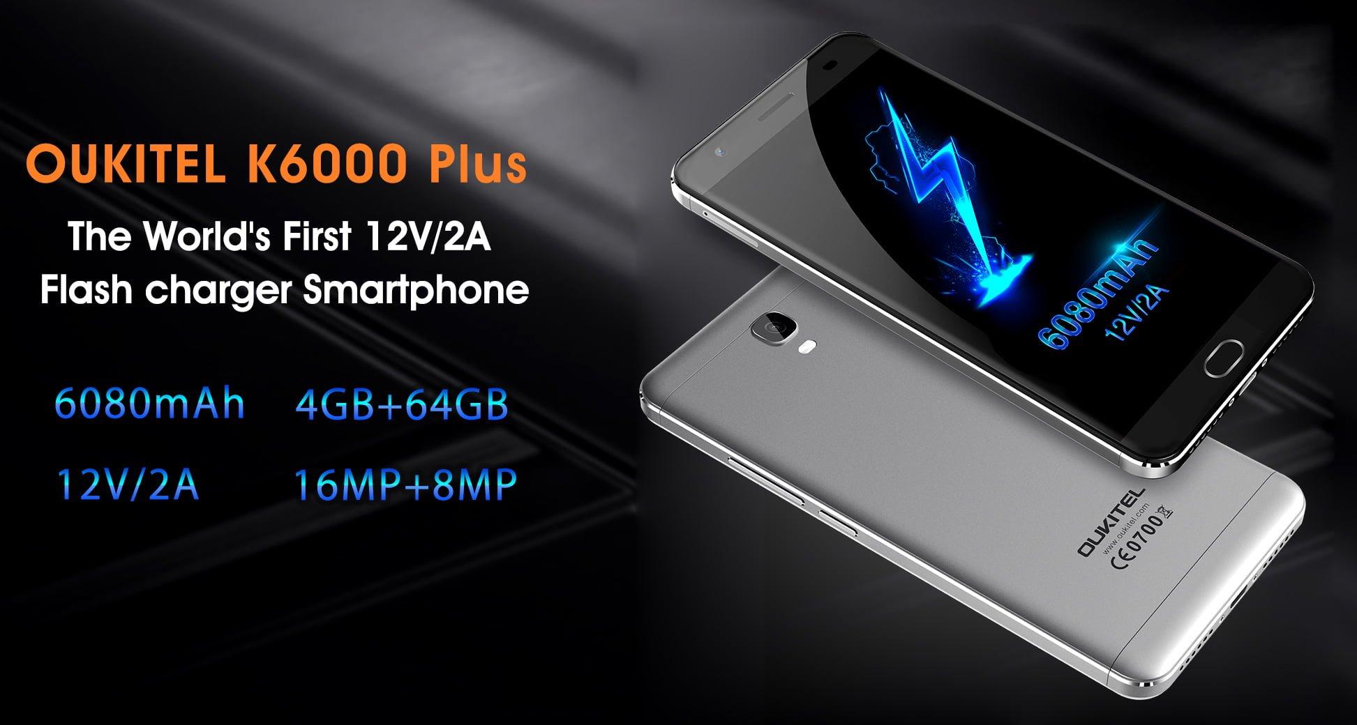 """Jutro rusza przedsprzedaż smartfonu OUKITEL 6000 Plus. Tak, """"6000"""" sugeruje pojemność baterii 19"""