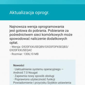 Samsung Galaxy S6 z T-Mobile otrzymał aktualizację do Androida 7.0 Nougat 21