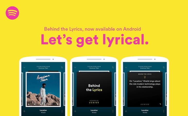 Tabletowo.pl Spotify dodaje funkcję Behind The Lyrics do swojej aplikacji na Androida Aplikacje Nowości