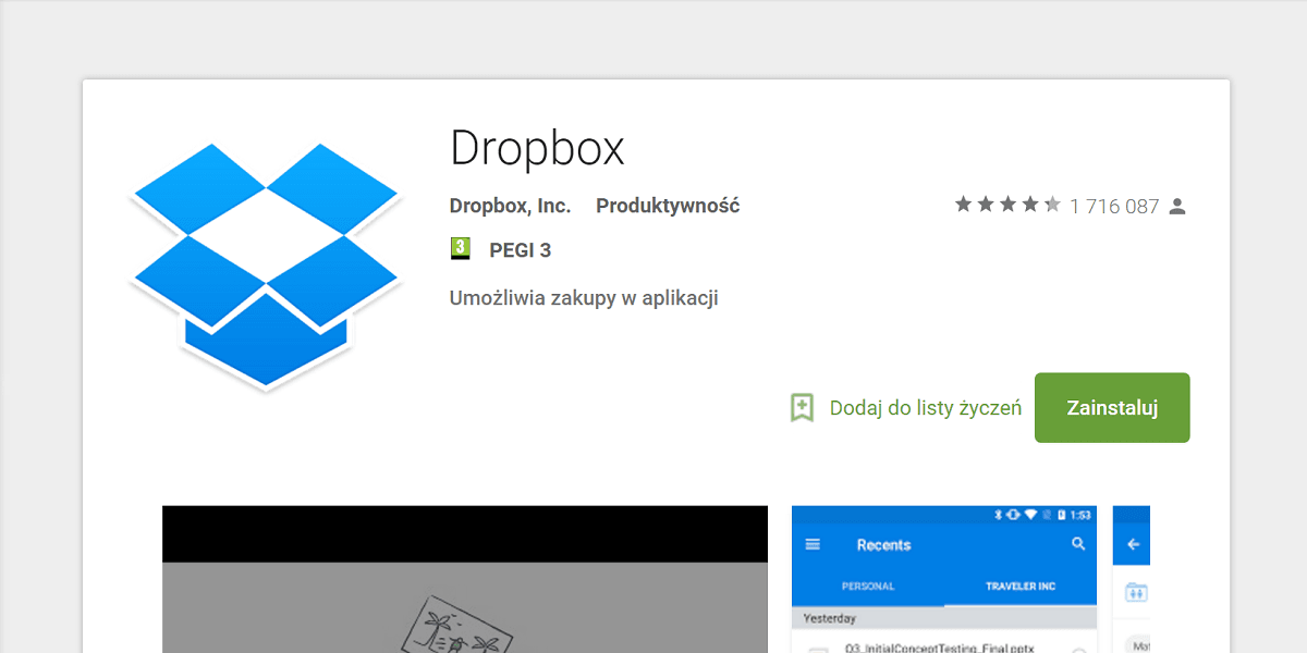 Dropbox - Google Play