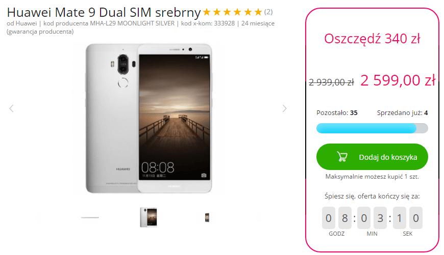Tabletowo.pl Promocja na dziś - srebrny Huawei Mate 9 dualSIM najtaniej w internecie Huawei Promocje Smartfony