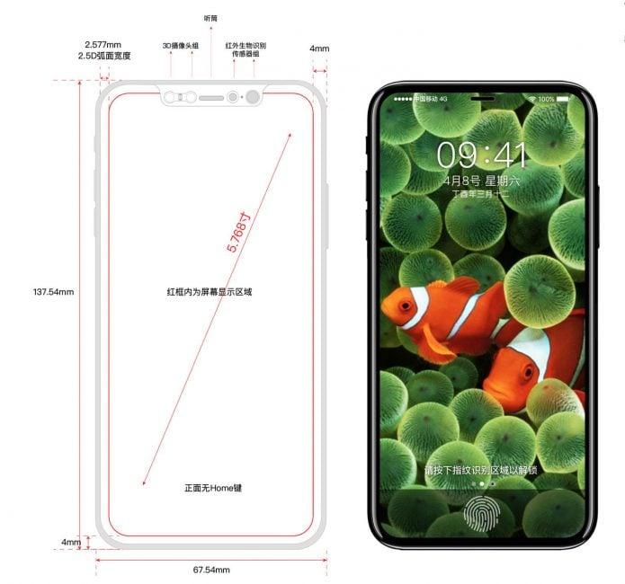 Iphone 8 - schemat