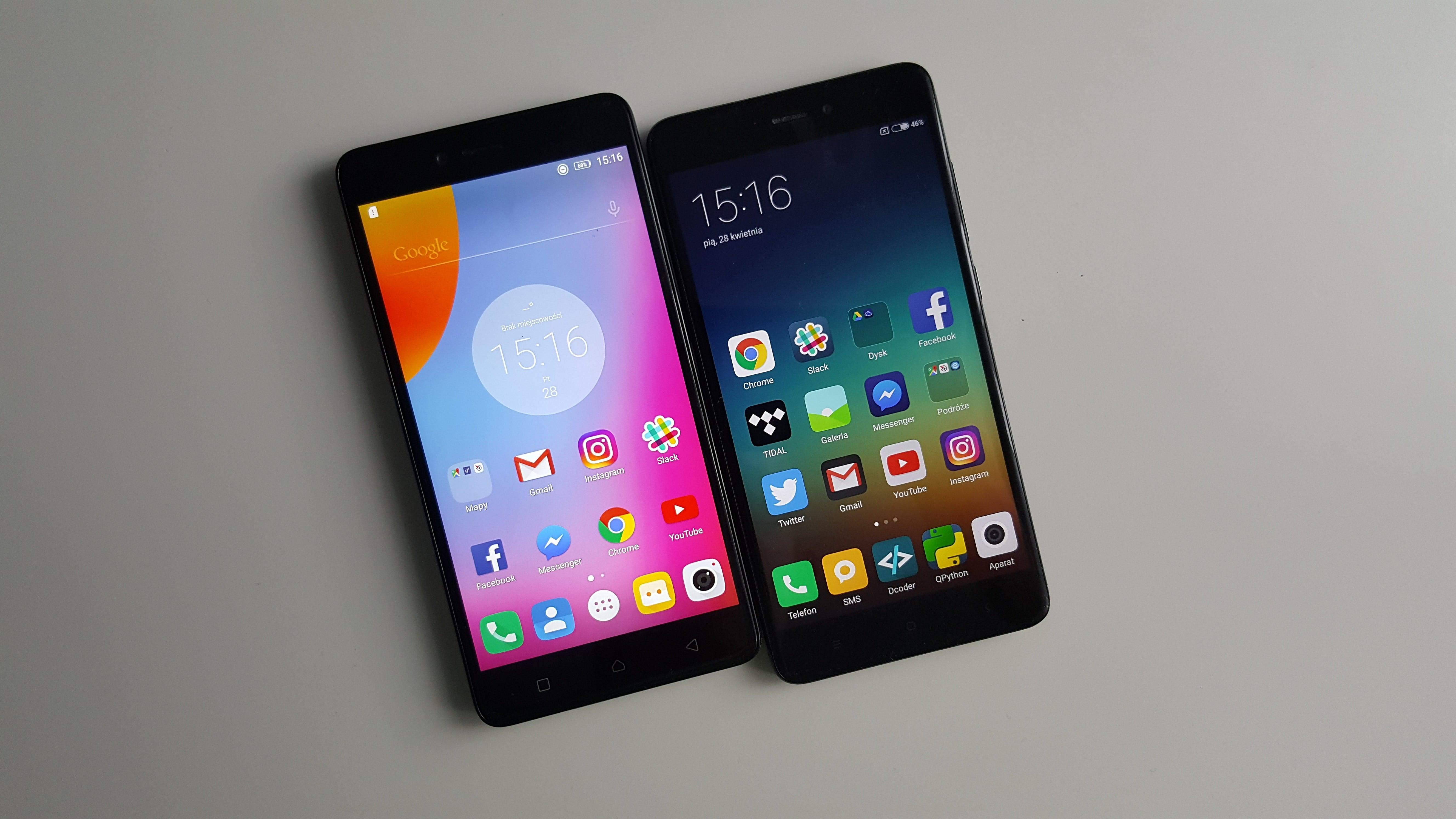 Tabletowo Por³wnanie Lenovo K6 Note vs Xiaomi Redmi Note 4 Android Lenovo Por³wnania
