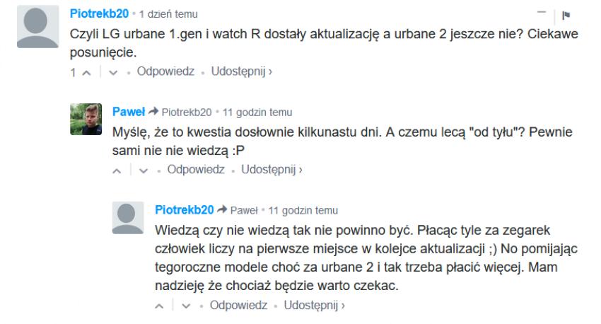 Komentarz dotyczący LG Watch Urbane 2nd edition