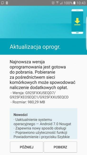 Tabletowo.pl Już jest! Android 7.0 Nougat na Samsungi Galaxy S6 Edge z wolnej dystrybucji Aktualizacje Android Oprogramowanie