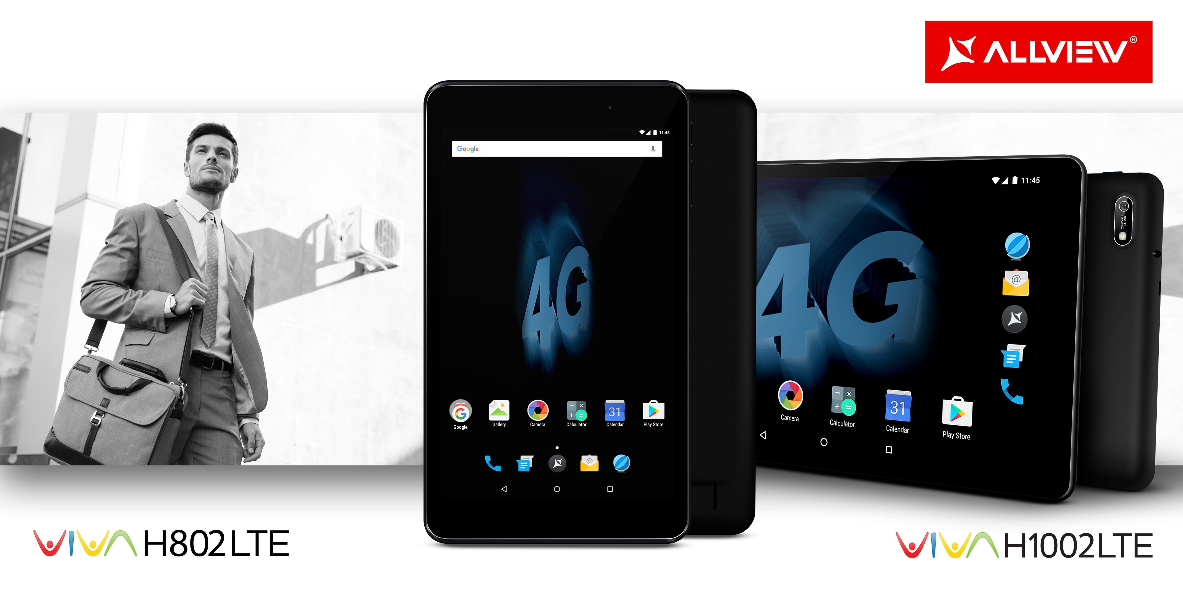 Tabletowo.pl Viva H1001 LTE i Viva H802 LTE to dwa nowe tablety Allview z LTE i Androidem 7.0 Nougat Allview Android Nowości Tablety