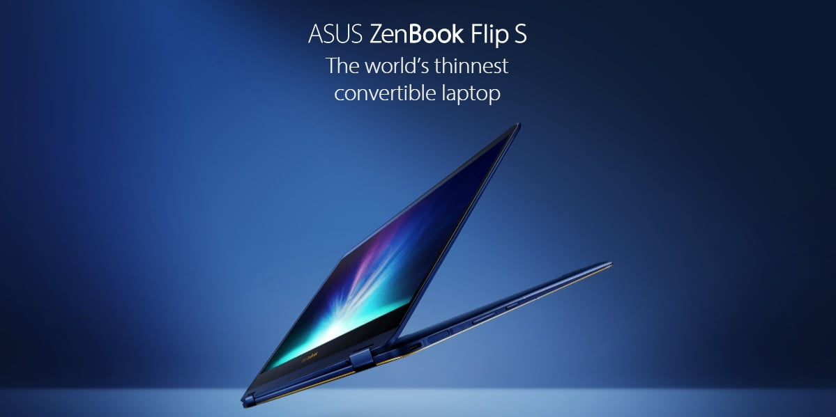 Tabletowo.pl Asus ZenBook Flip S - najcieńszy na świecie laptop konwertowalny Asus Hybrydy Nowości Windows