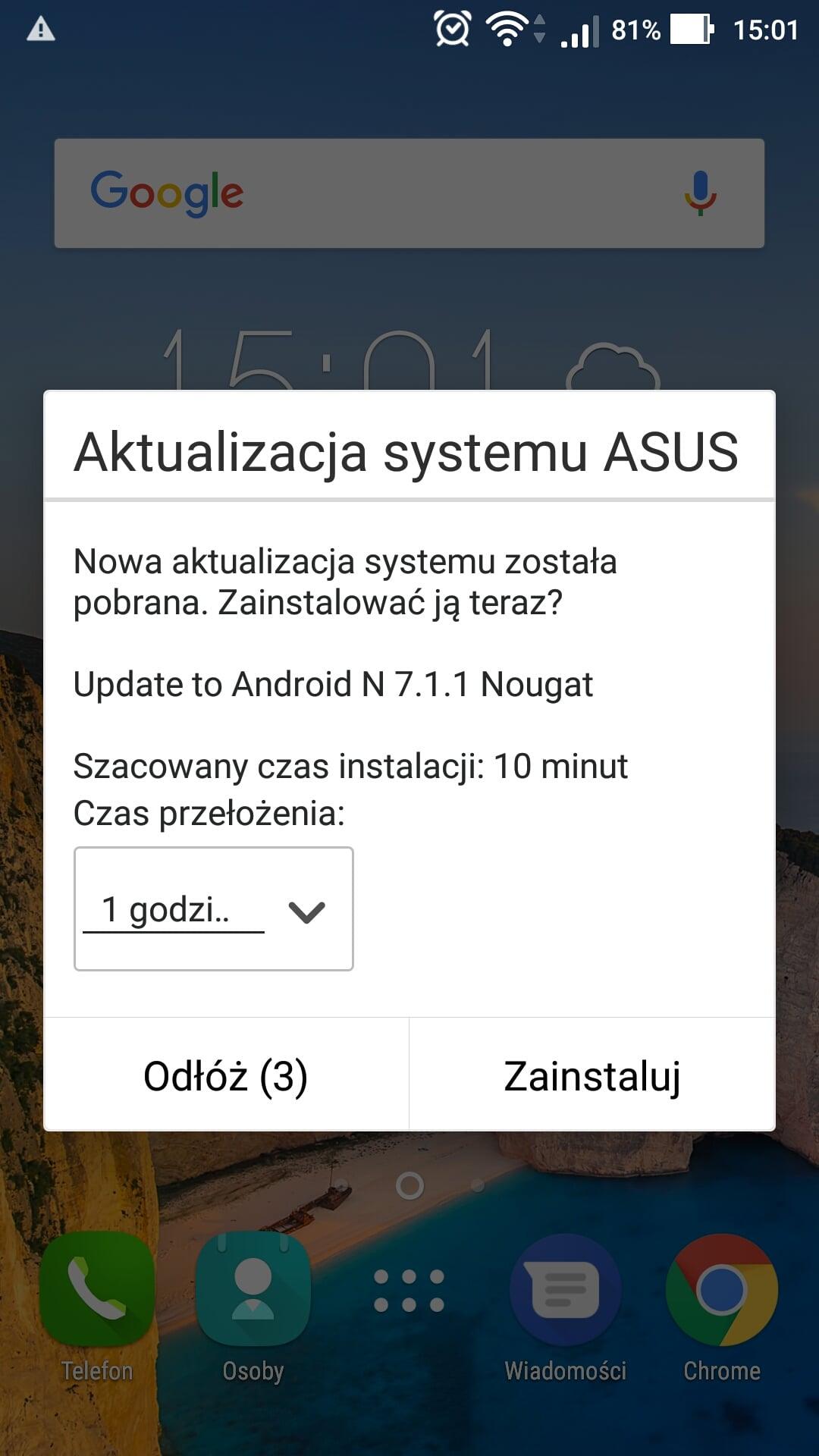 Asus udostępnia Androida 7.1.1 Nougat dla modelu Zenfone 3 Max (ZC553KL) 19